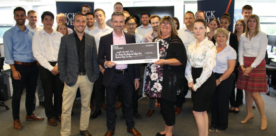 BURY ST EDMUNDS BUSINESS DONATES TO YOUTH HOMELESSNESS CHARITY