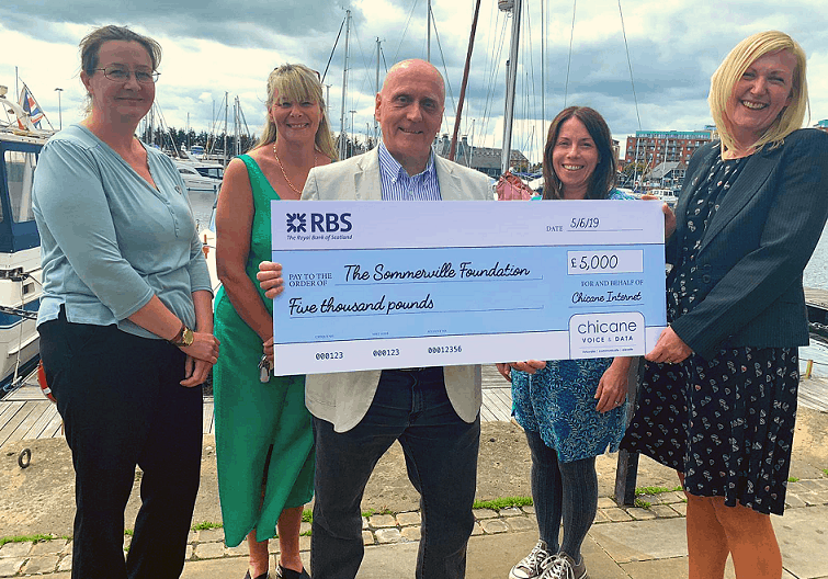 Chicane Internet donates £5,000 to The Somerville Foundation ahead of their partnership