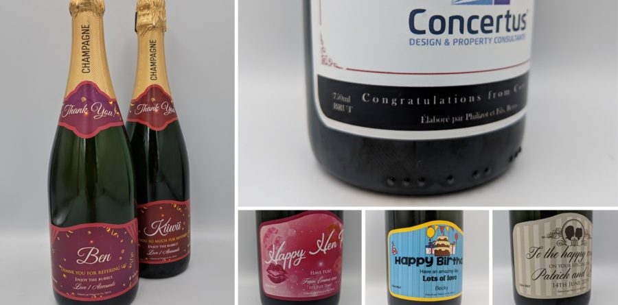 Don't let the bubble burst with personalised champagne