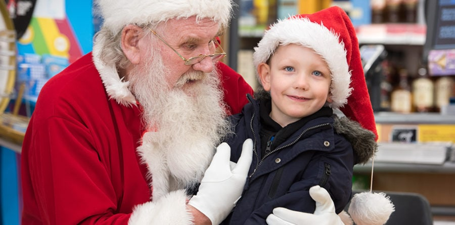 Father Christmas spreads Christmas cheer at East of England Co-op Stores across Suffolk