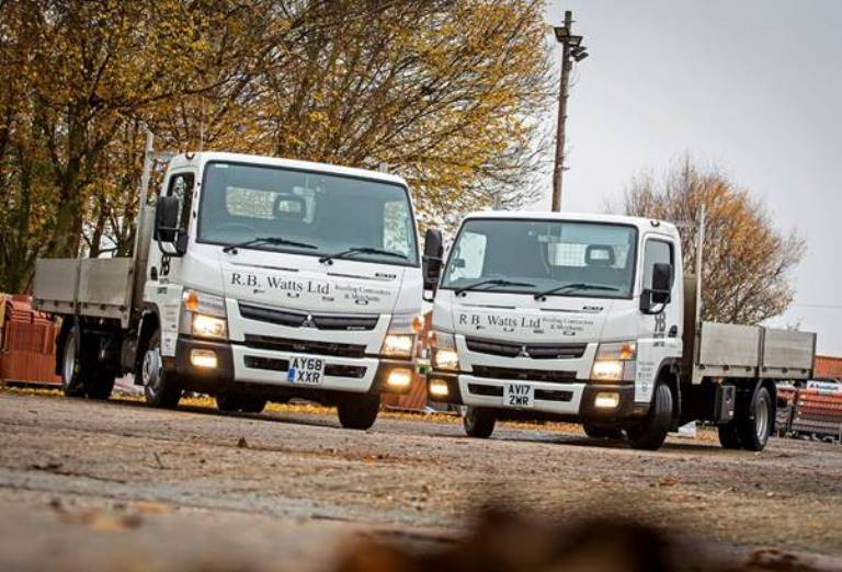 Roofing specialist RB Watts return for 2nd Fuso Canter Truck