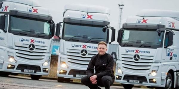 Port Express puts safety first with 15 new Mercedes-Benz Actros from Orwell Truck & Van