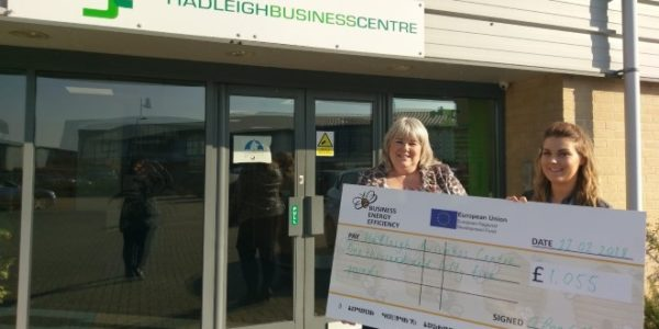 Suffolk Business Centre awarded grant for energy efficiency measures.