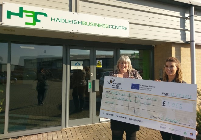 Hadleigh Business Centre awarded grant for energy efficiency measures