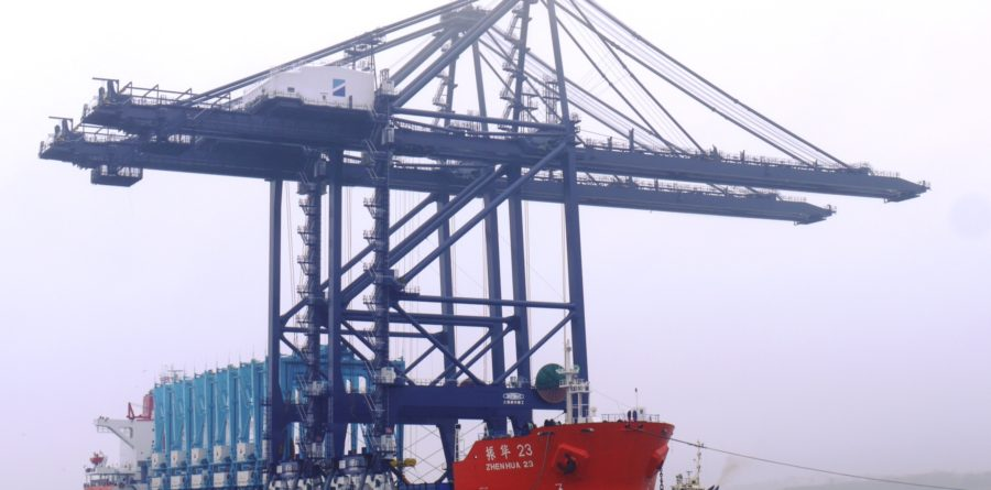 First remote control gantry cranes at Port of Felixstowe