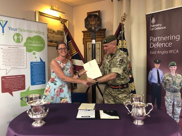 Suffolk company Your Telemarketing signs Armed Forces Covenant