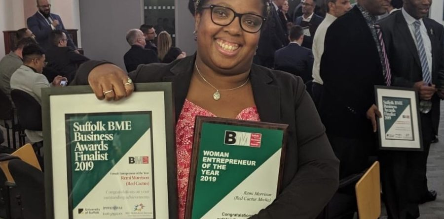 Red Cactus Media founder wins BME Female Entrepreneur of the Year Award !