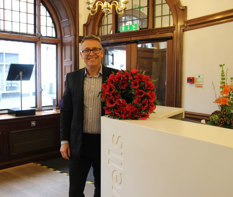 Local solicitors honour the country's fallen and make donation to Royal British Legion