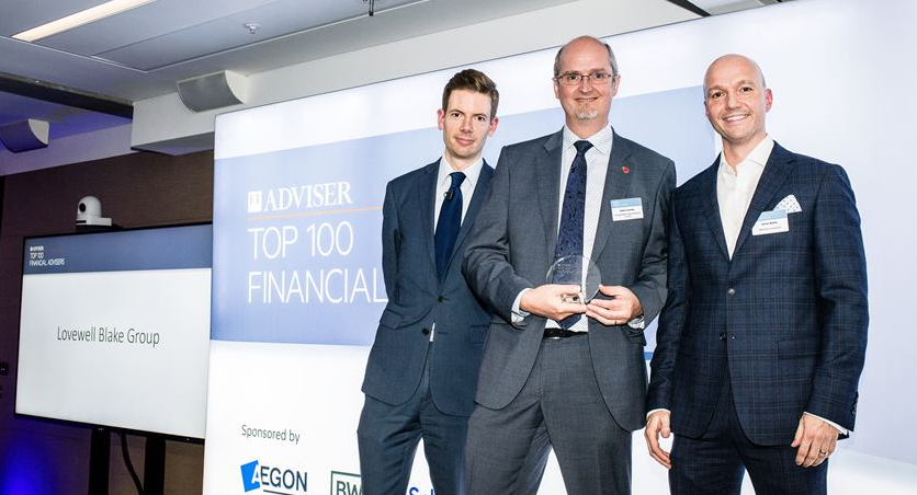 FT rates Lovewell Blake in Top 100 financial planners in the UK