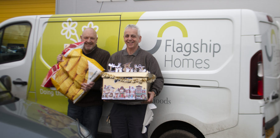 Flagship staff deliver food boxes in time for Christmas