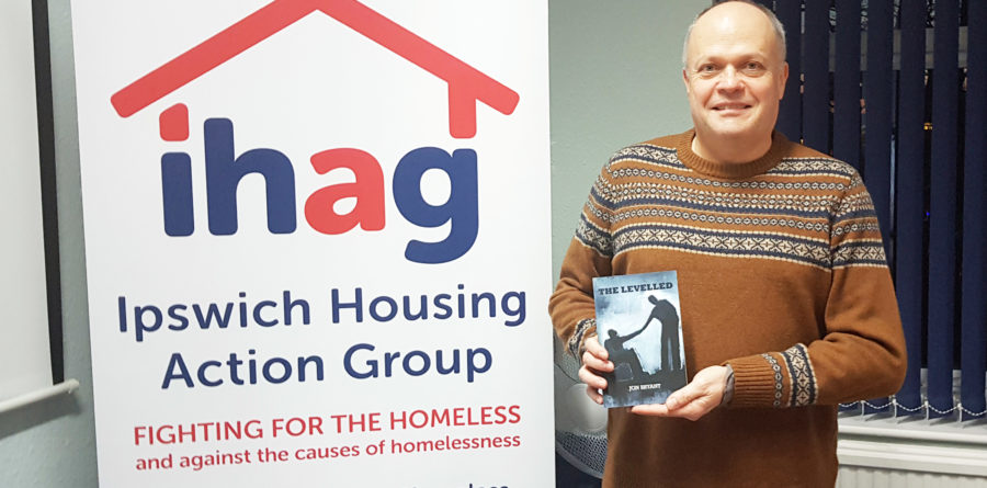 Local author supports Ipswich charity for homeless people