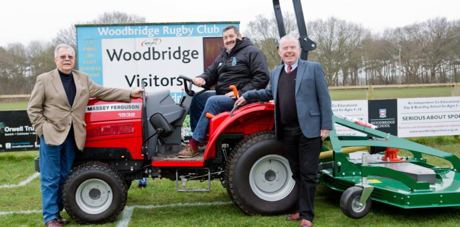 Woodbridge Rugby Club gets new fully equipped tractor with support of Eastern Counties Rugby Union and Sport England Grants