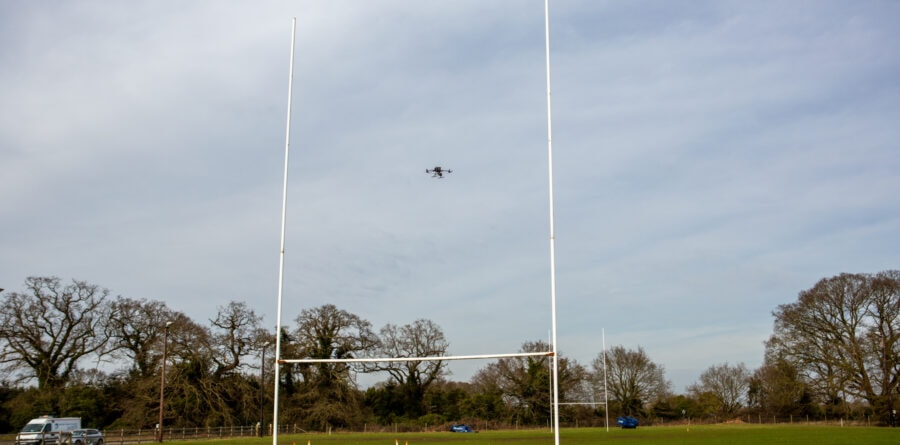 Woodbridge Rugby Club helps Suffolk Fire & Rescue Service fly