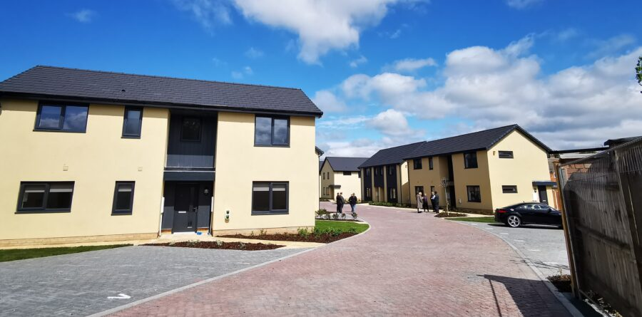 New affordable homes in Newmarket transform rundown garage sites