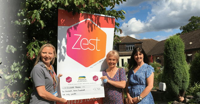Over £2,750 donated to Zest young adult charity to fund music therapy sessions